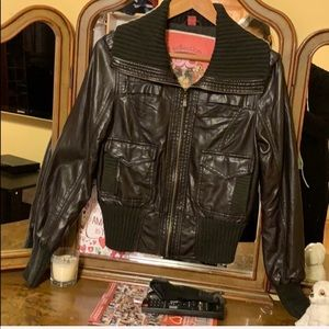 Dark Brown Collection Faux Leather Jacket